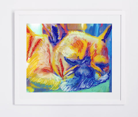 French Bulldog print, Dog Painting, Gift for French Bulldog owner, Frenchie watercolor art print, Bulldog Frances art, Frenchie art print - Dog portraits by Oscar Jetson