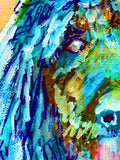 Standard Poodle Dog Painting,Poodle owner gift,watercolor dog art,Aqua marine poodle,Poodle Dog Art, Poodle gift idea, Poodle art print - Dog portraits by Oscar Jetson - 3