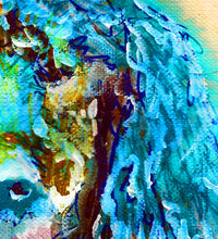 Load image into Gallery viewer, Standard Poodle Dog Painting,Poodle owner gift,watercolor dog art,Aqua marine poodle,Poodle Dog Art, Poodle gift idea, Poodle art print - Dog portraits by Oscar Jetson - 4