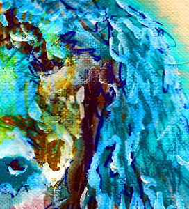Standard Poodle Dog Painting,Poodle owner gift,watercolor dog art,Aqua marine poodle,Poodle Dog Art, Poodle gift idea, Poodle art print - Dog portraits by Oscar Jetson - 4