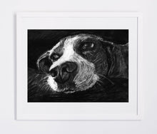 Load image into Gallery viewer, Beagle drawing, Charcoal Beagle art print,Beagle owner gift idea,Beagle picture,Beagle artwork, Beagle face, Beagle portrait,Beagle print - Dog portraits by Oscar Jetson