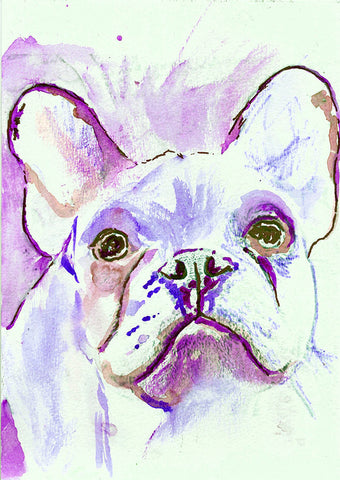 French Bulldog print, Frenchie decor, Frenchie mom,  frenchie wall art, colorful french bulldog, wall hanging frenchie, frenchie art print - Dog portraits by Oscar Jetson