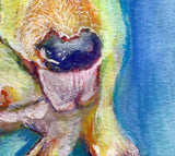 English Bull terrier Dog Painting, Art print, Dog portrait, English bull wall art, English Bull watercolor picture, bull terrier gift idea - Dog portraits by Oscar Jetson - 3