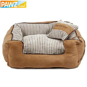 Winter Warmer Dog Bed Luxury Soft Kennel alternative -  Warm Dog House With Cushion - Chew Resistant with Detachable Bedding - Dog portraits and dog gifts