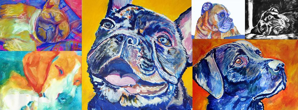 custom dog painting from photo