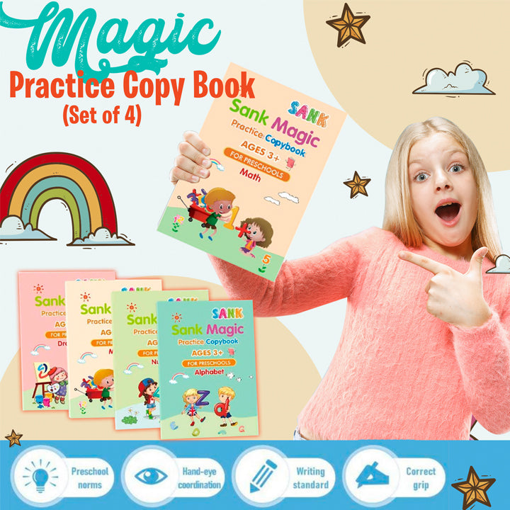 Magic Practice Copy Book (Set of 4)