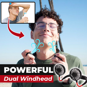 Hands-Free Neckband Fan