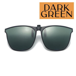 Clip On Universal Sunglasses outdoorpinata Dark Green