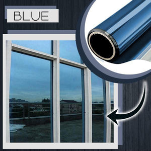 Heat Insulation Privacy Film 88mallonline 40x100 Blue