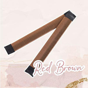 MagicTie Perfect Bun Maker (2PCS) Health & Beauty outdoorpinata Red Brown
