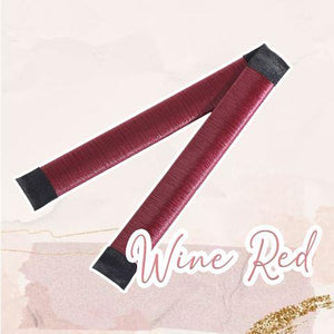 MagicTie Perfect Bun Maker (2PCS) Health & Beauty outdoorpinata Wine Red