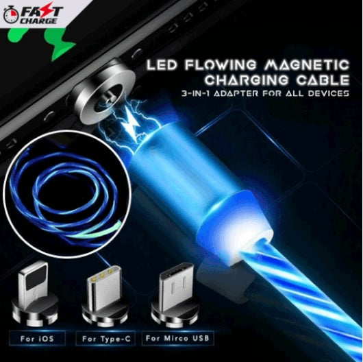 LED Flowing Magnetic Charging Cable