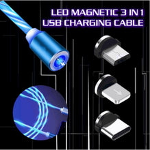 Load image into Gallery viewer, LED Flowing Magnetic Charging Cable