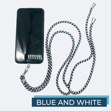 Load image into Gallery viewer, Universal Phone Lanyard outdoorudolph Blue and White