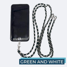 Load image into Gallery viewer, Universal Phone Lanyard outdoorudolph Green and White