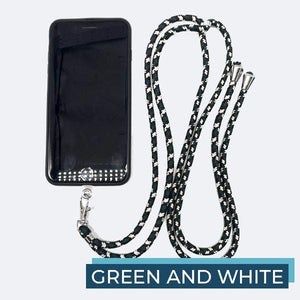 Universal Phone Lanyard outdoorudolph Green and White