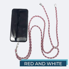 Load image into Gallery viewer, Universal Phone Lanyard outdoorudolph Red and White