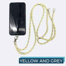 Load image into Gallery viewer, Universal Phone Lanyard outdoorudolph Yellow and Grey