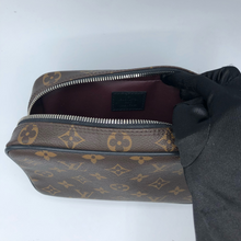 Load image into Gallery viewer, Louis Vuitton Macassar Monogram Canvas GM Pouch w/ SIlver Hardware