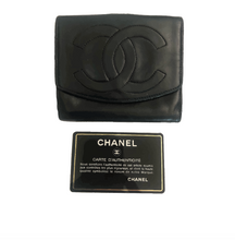 Load image into Gallery viewer, Chanel Lambskin Compact Bi-fold Wallet
