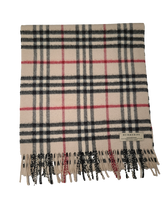 Load image into Gallery viewer, Burberry Beige Novacheck Wool Scarf
