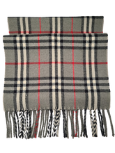 Load image into Gallery viewer, Burberry Grey Novacheck Scarf