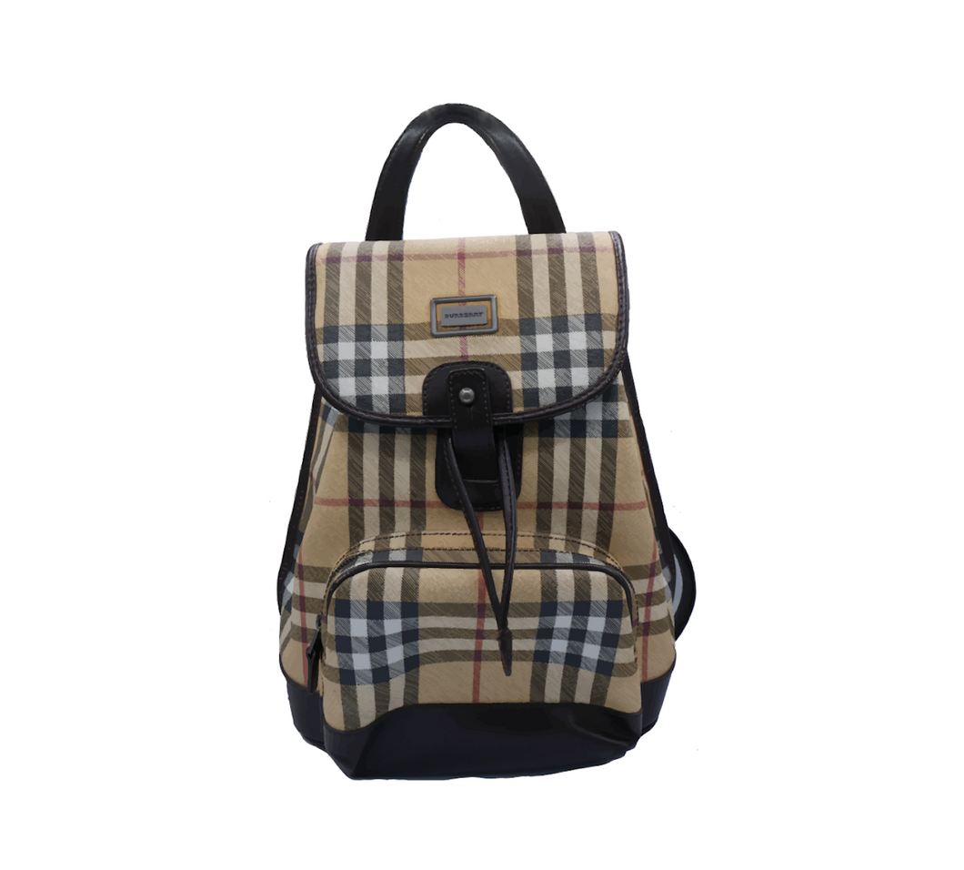 Burberry Beige Novacheck Backpack