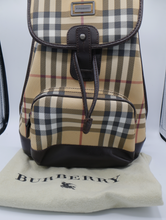 Load image into Gallery viewer, Burberry Beige Novacheck Backpack