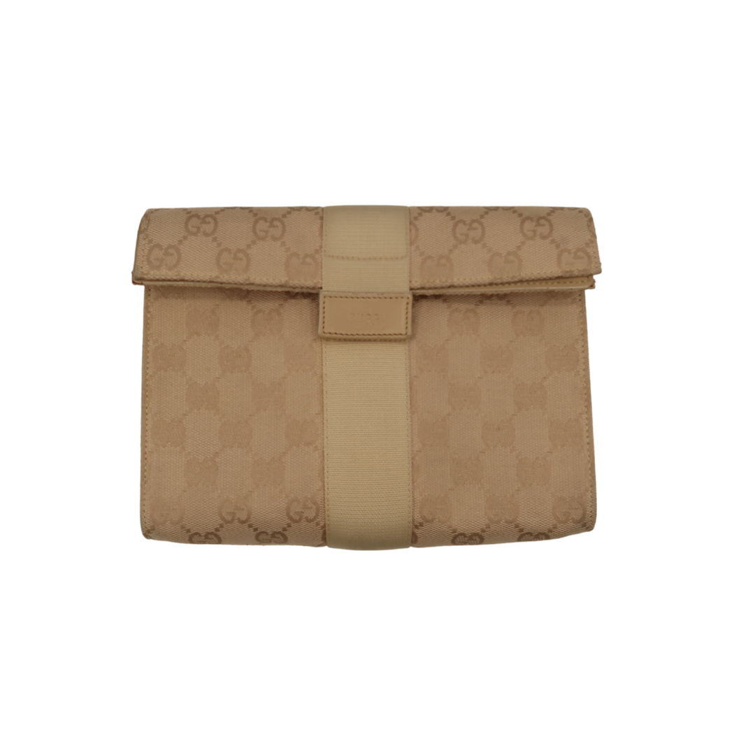 Gucci Monogram Cream Pouch