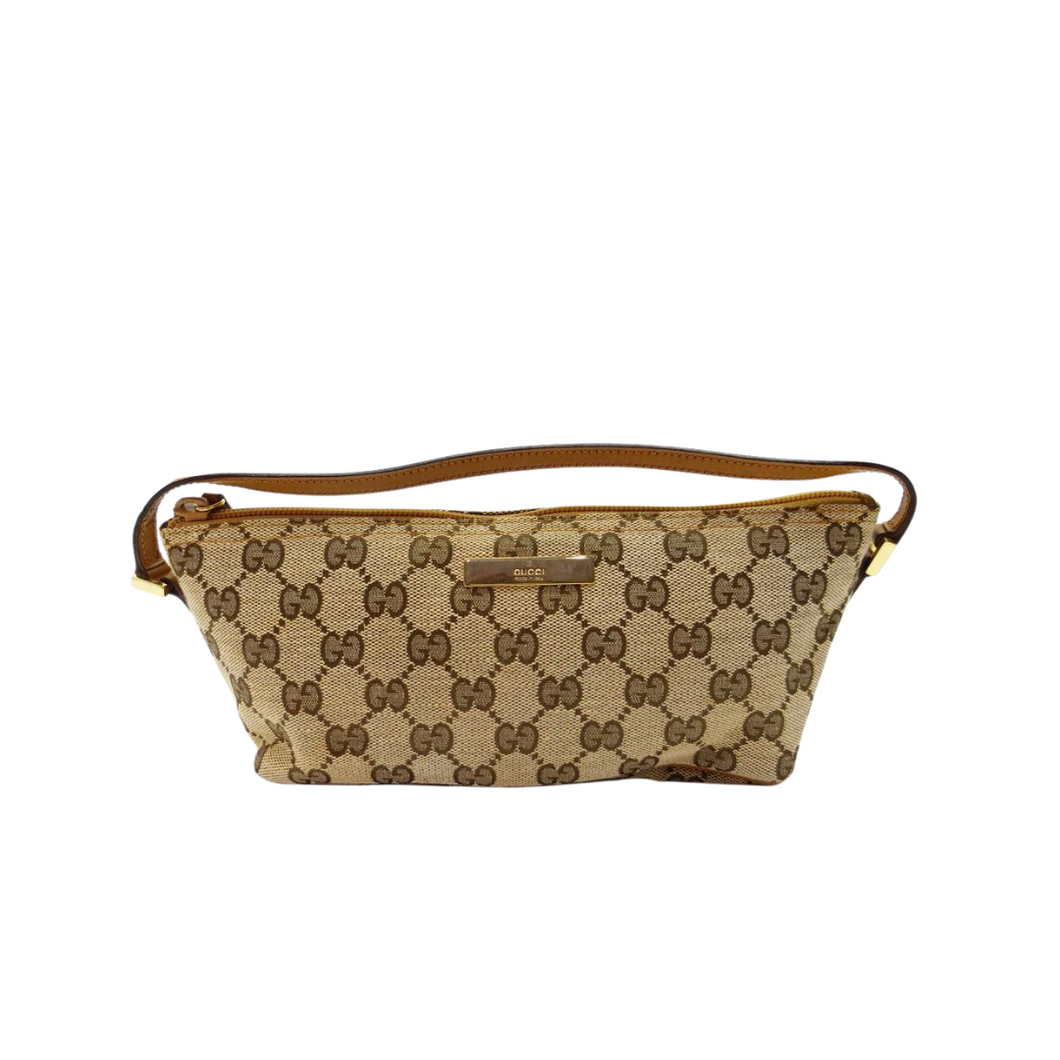 Gucci Monogram Canvas Boat Bag