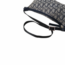 Load image into Gallery viewer, Christian Dior Navy Trotter Adjustable Shoulder Bag
