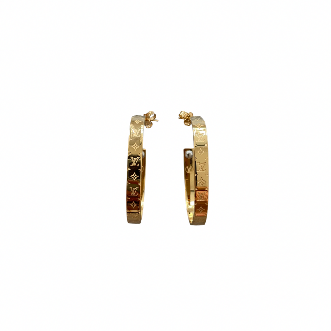 Louis Vuitton Nanogram Hoop Earrings