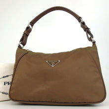 Load image into Gallery viewer, Prada Brown Nylon Hobo Bag