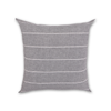 Striped Comfort Fiber Cushion - Grey