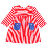 Girls Striped Kurti - Red