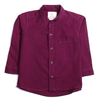 Boys Plain Casual Shirt - Purple