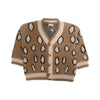 Girls Leopard Printed Sweater - Brown