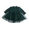 Girls Embroidered Frock - Green