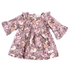 Girls Floral Frock - Fawn