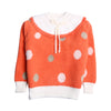 Girls Polka Dots Printed Sweater - Orange