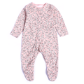 Girls Floral Printed Bodysuit - Pink