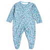 Girls Floral Printed Bodysuit - Sea Blue