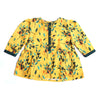 Girls Printed Floral Kurti - Yellow