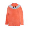Girls Embroidered Sweater - Orange