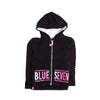 Girls Hooded Zipper - Black