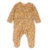 Girls Floral Printed Bodysuit - Dark Yellow