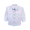 Boys Casual Line Shirt - Grey