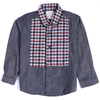 Boys Check Casual Shirt - Dark Grey