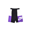 2 Quarter Men's Short - White & Purple