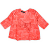 Girls Printed Fusion Top - Orange